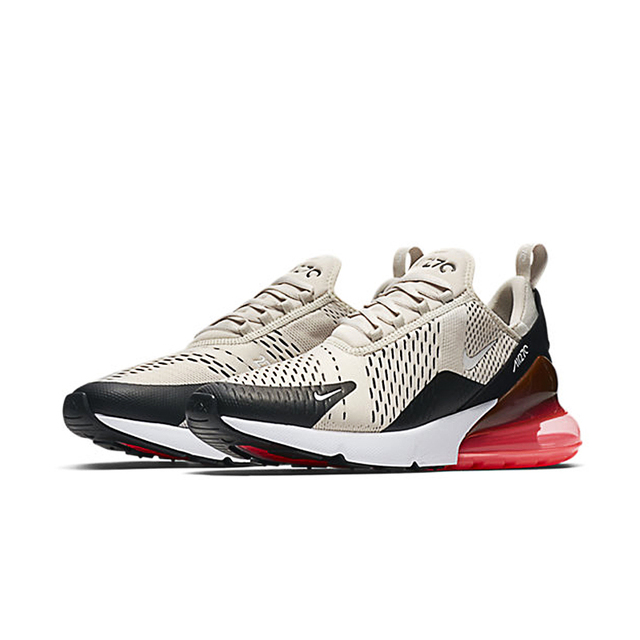 Nike AIR MAX 270 Unisex Running Shoes Black Non-slip Wear-resisting Lightweight Sport Lifestyle Max Air Sneakers Store Hot Style