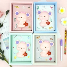 Slow Rebound Stress Relief Notebook Cartoon Decompression Notepad Diary Book H05A