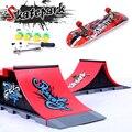 Juguetes de los niños del rompecabezas de Skatepark del dedo accesorios de aleación del Skatepark seis estilos nuevo Material creativo del Abs juguetes de los dedos