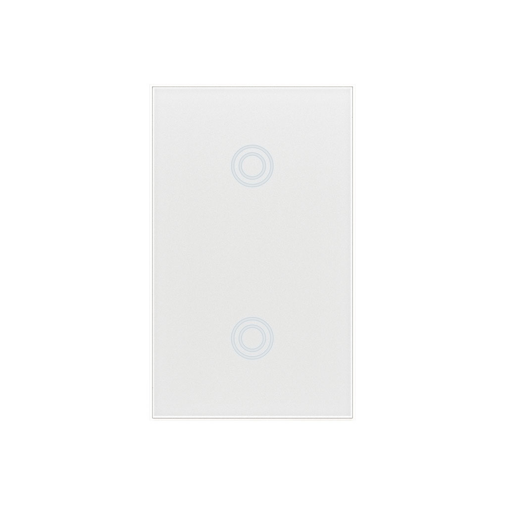 NEO Coolcam Wifi Wall Light Switch Toughened Glass Panel 2 Gang Smart Touch LED Lights Switch US Standard