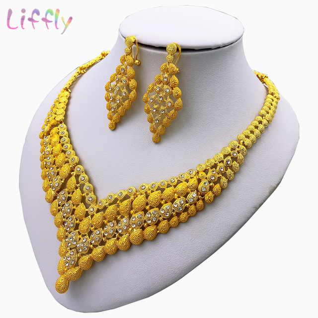 Charm African Bridal Earrings Ring Drop Classic Jewelry Sets  3