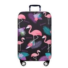 Travel suitcase cover flamingo animal printing travel box set case dust trolley elastic 20/24/28/30 inch