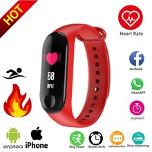 Smart Watch Bluetooth Heart Rate Monitor Fitness Bracelet Waterproof USB charger M3 Smart Band Bracelet Fitness Activity Sport(China)