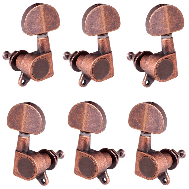 Guitar Fully-Closed Tuners 3R3L String Tuning Pegs Keys Machine Heads Set Acoustic Guitar Parts