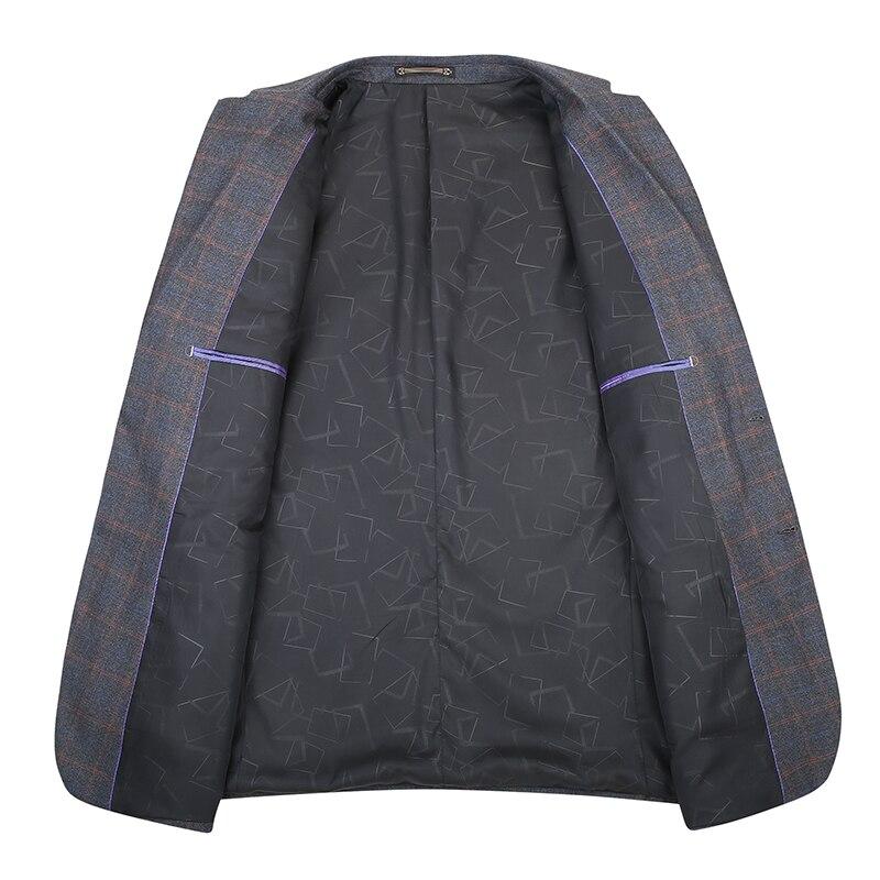 2019 grande talla grande 8XL 7XL 6XL nueva llegada Otoño e Invierno chaqueta de traje de hombre moda Slim Fit Brazer chaquetas Casual de los hombres - 3