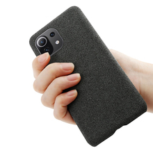 עבור Xiaomi Mi 11 לייט 5G Ultra 11i Poco X3 NFC F3 11X Funda יוקרה בד מרקם מצויד מקרה עבור Redmi הערה 10 פרו מקסימום 10S כיסוי