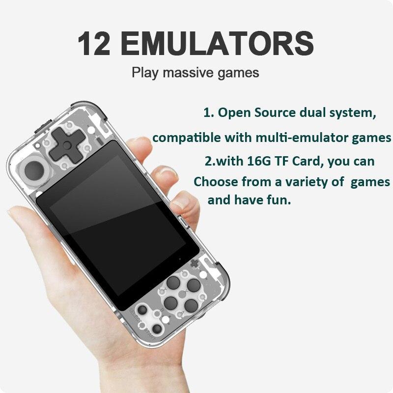 Купить q90 ручной ретро игровая консоль встроенный 3000 игр 3 дюймовый
