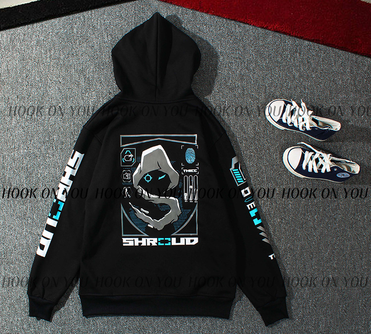 Shroud New Style Autumn And Winter Plus Velvet Jacket E-Sports Chicken Uniforms Zipper Hoodie C9 Cloud9 CSGO