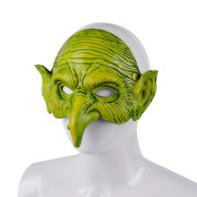 Halloween Christmas Carnival Party Half Face PU Foam Witch Mask Cospty Mascaras Disfraces 3D Soft Masquerade Green Goblin Mask(China)