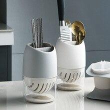 Кухонный Органайзер, полка для хранения посуды, съемная полая сушилка для сушки посуды, держатель для палочек для еды, ложка, вилка, нож