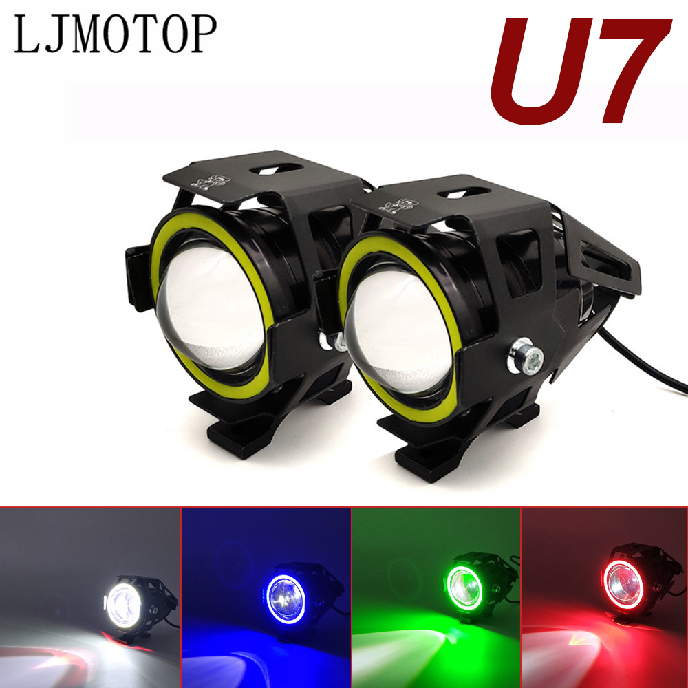 For Ducati HYPERMOTARD 796 MONSTER S2R 800 821 797 MONSTER 125W Motorcycle Headlight 3000LM Low Beam Flash U7 LED Spotlight|  - title=