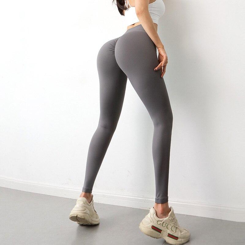 NORMOV legginsy z obcisłym tyłem Sport kobiety Fitness wysokiej talii miękkie Booty joga spodnie siłownia legginsy czarne czerwone elastyczne rajstopy
