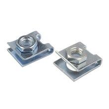 купить Kalili car license plate fixed fasteners buckle suitable 6mm screw rivet retainer metal M6 nut U-Type Clip дешево