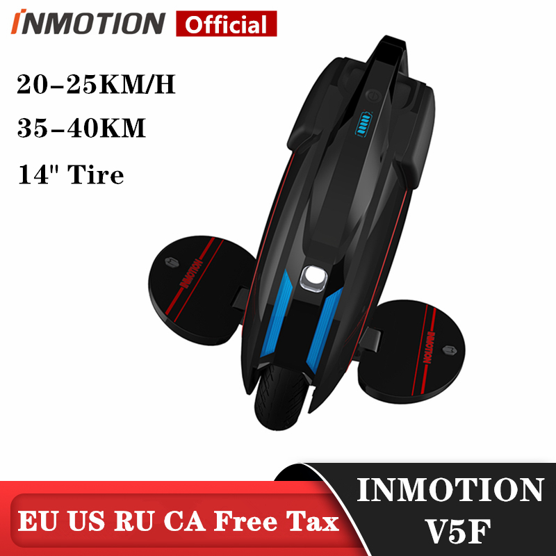 Original INMOTION Updated V5F Electric Unicycle Monowheel Onewheel Selfbalancing Scooter EUC With Decorative Lamps 320WH|Self Balance Scooters| - AliExpress