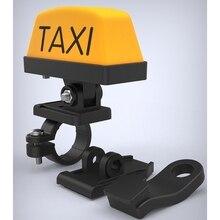 Motorrad Dekoration Geändert Licht Einstellbare Griff Helm Licht USB Rechargable Warnung Taxi Box Zeichen LED Lampe Anzeige