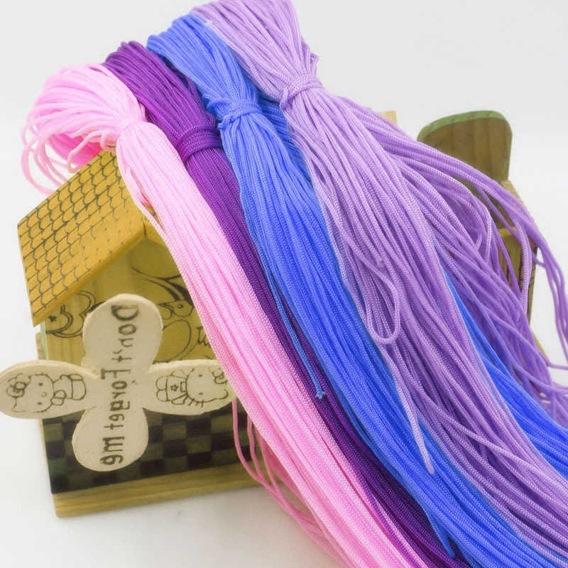 25G /Ball Thin Colorful Thread Line Shoes Knitting Cord Hollow Polyester Woven Cushion Yarn