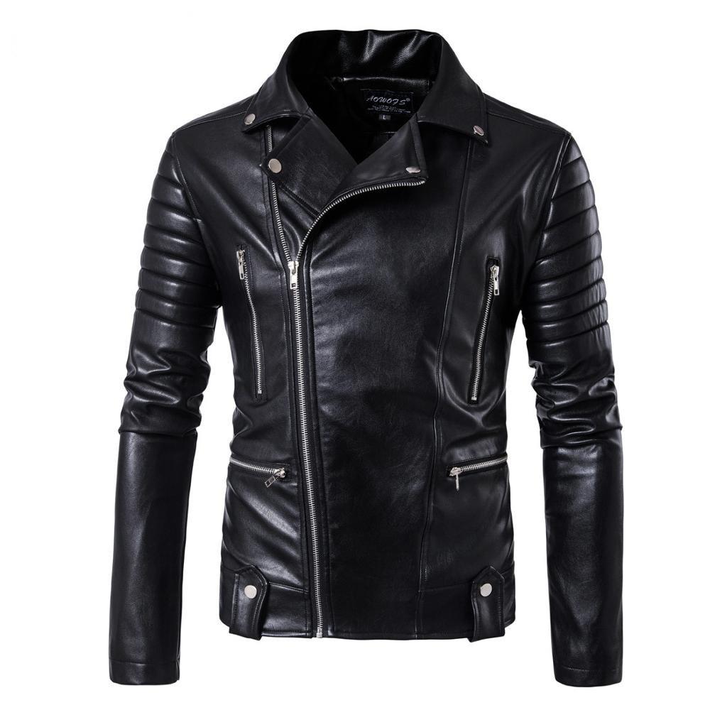 2019 High-end Brand Men Zipper Leather Jacket Wolverine Casual PU Leather Locomotive Coat Logan Bomber Jacket Slim Coat Size 5XL