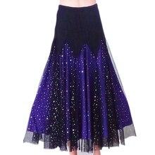 Women Ballroom Skirt Modern Dance Star Dress Waltz Tango Latin Costume Plus Size 904-A102