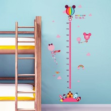 Disney cartoon minnie mickey mouse growth chart wall stickers for kids height measure art  home decorations DIY