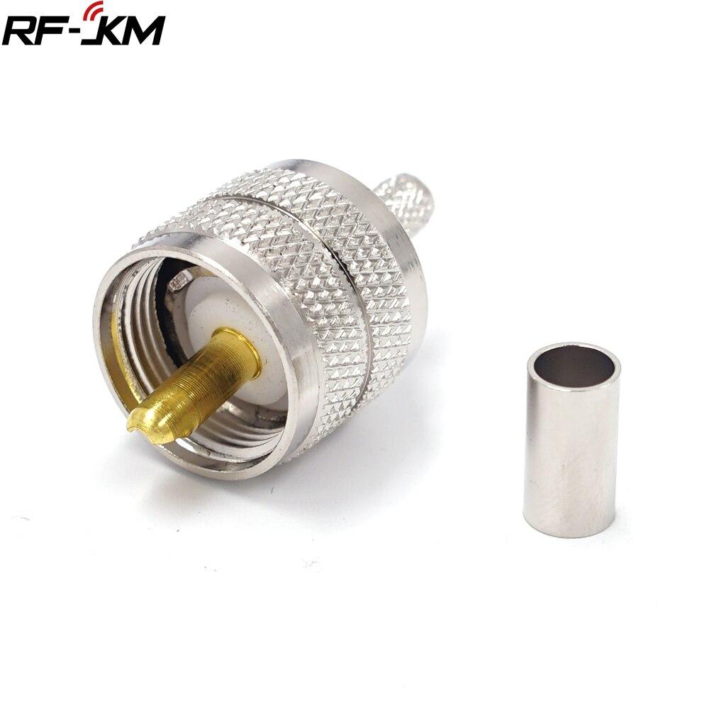 1 pçs uhf pl259 macho plug friso rg58 rg142 lmr195 rg400 cabo coaxial conector reto