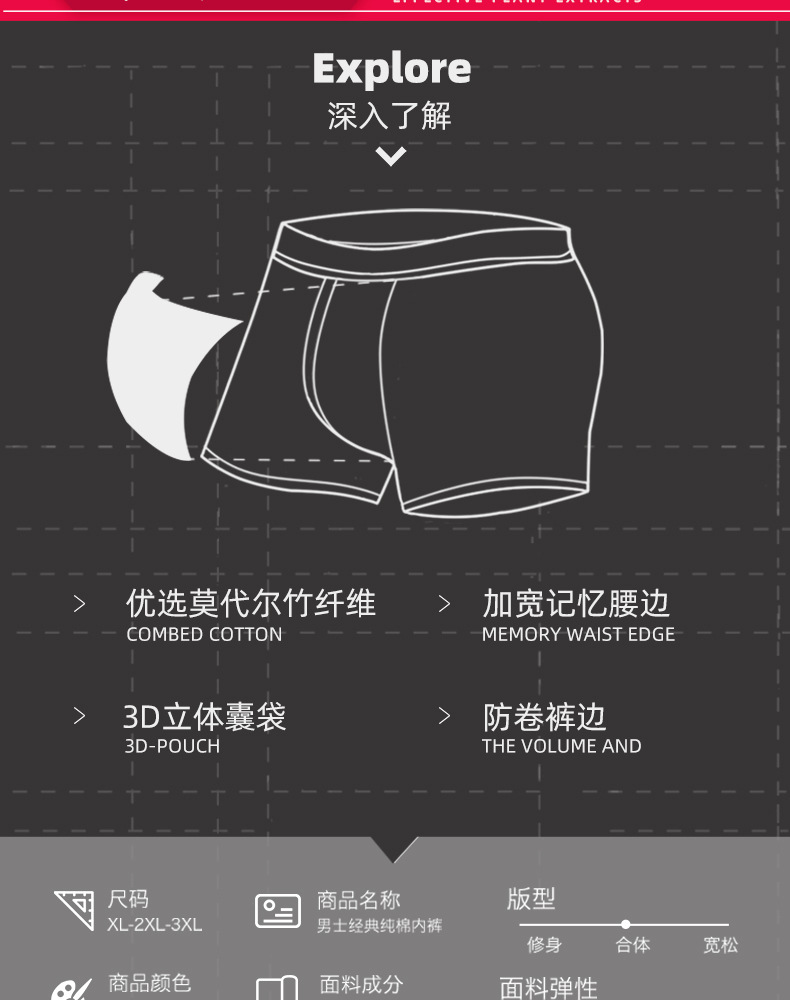 4 pcs/Lot Men Boxers Underwear Bamboo Fiber Sexy Boxershorts Mens Pants Breathable Male Calecon Homme Ondergoed Mannen