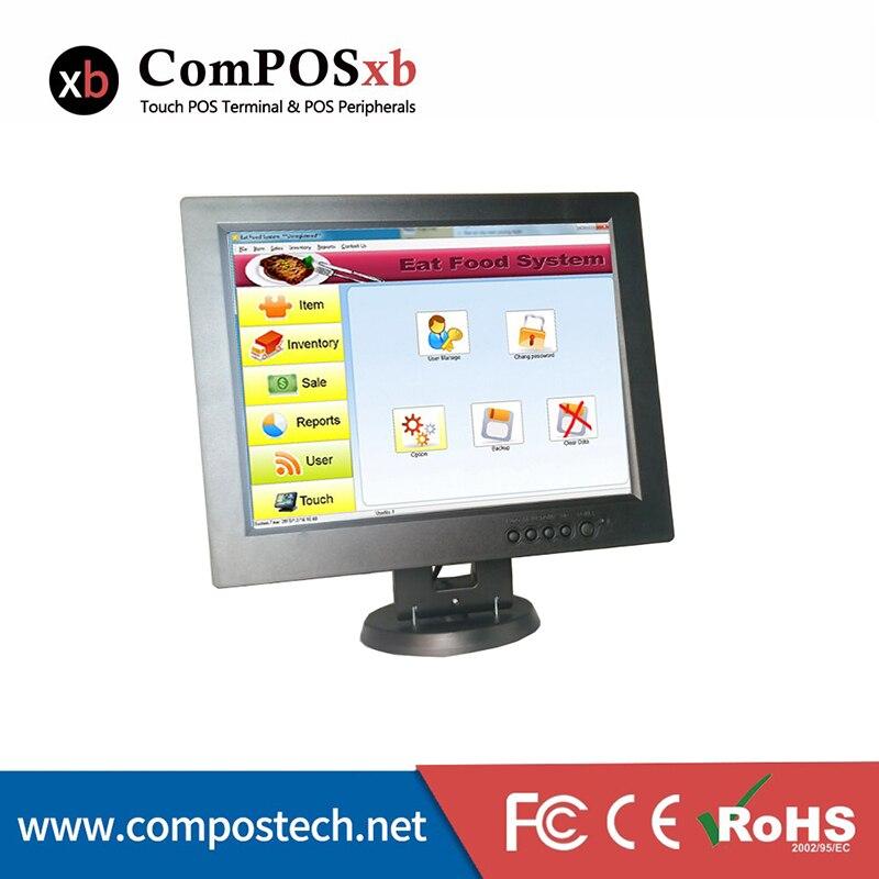 Moniteur de restaurant/supermarché d'écran tactile d'écran tactile de LED/LCD de 12 pouces