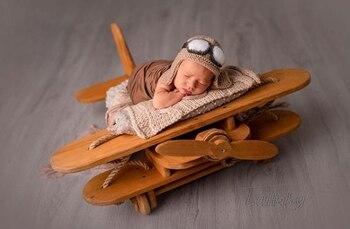 Accesorios de fotografía de recién nacido para bebé madera Luna Props posando cama de madera fotografía accesorios estudio sesiones foto Prop