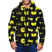 Мужская модная Толстовка wu tang clan пуловер с 3d принтом толстовка