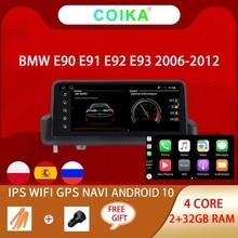 Автомагнитола для BMW E90 E91 E92 E93, мультимедийный плеер на Android 10, экран 10,25 дюйма, 2 ГБ + 32 ГБ