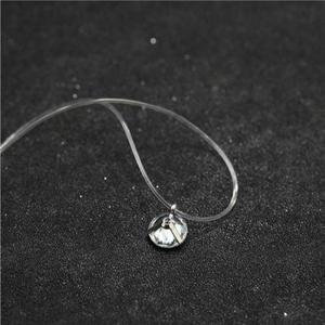 Модный Блестящий Кристалл Ожерелье Циркон Кулон прозрачная леска невидимое женское ожерелье ювелирные изделия ключицы цепь чокер