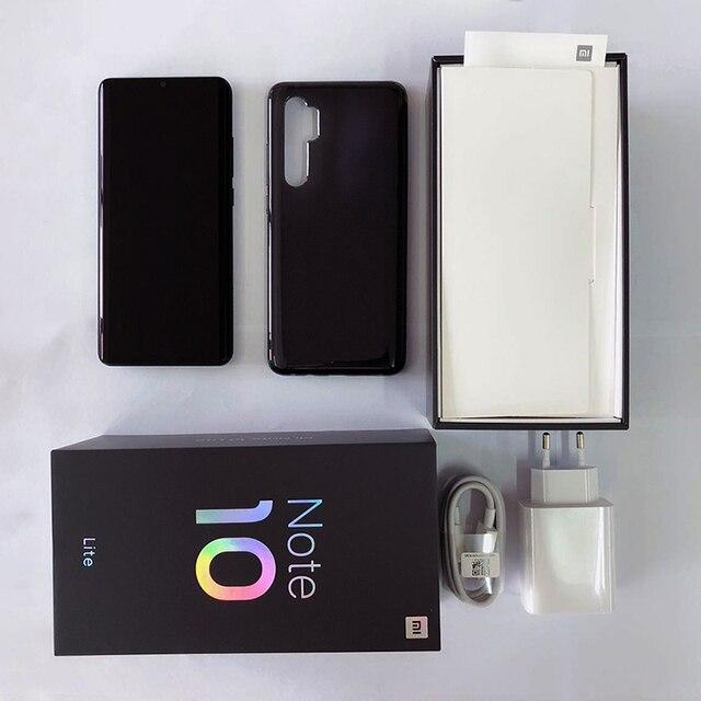 Global Version Xiaomi Mi Note 10 Lite 6GB 128GB Smartphone Snapdragon 730G Octa Core 64MP Quad Camera 6.47 AMOLED Screen 5260mAh 6