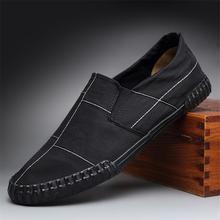 Туфли мужские парусиновые классические дизайнерские Повседневная