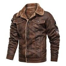 Winter Fur Leather Jacket Mens Suede Leather Jackets Men Fau