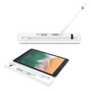 Image 2 - Apple kalem saklama kutusu kablosuz şarj durumda taşıma şarj alıcı durumda kalemlik standı Apple iPencil