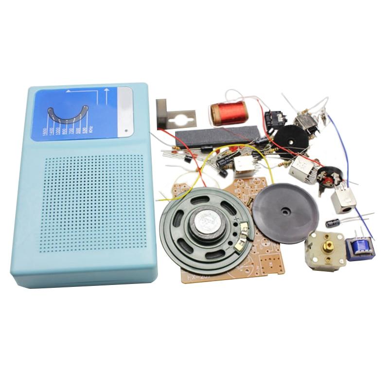 Superheterodyne Radio Receiver Board DIY Kits 7 Transistor + Sch + Case With Speaker DIY Kits