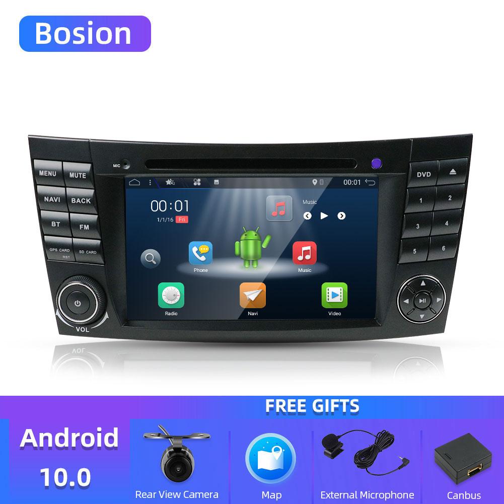 Bosion Android 10 2 din car DVD player For Mercedes Benz E-class W211 E200 E220 E300 E350 E24 Bluetooth Radio Stereo audio media