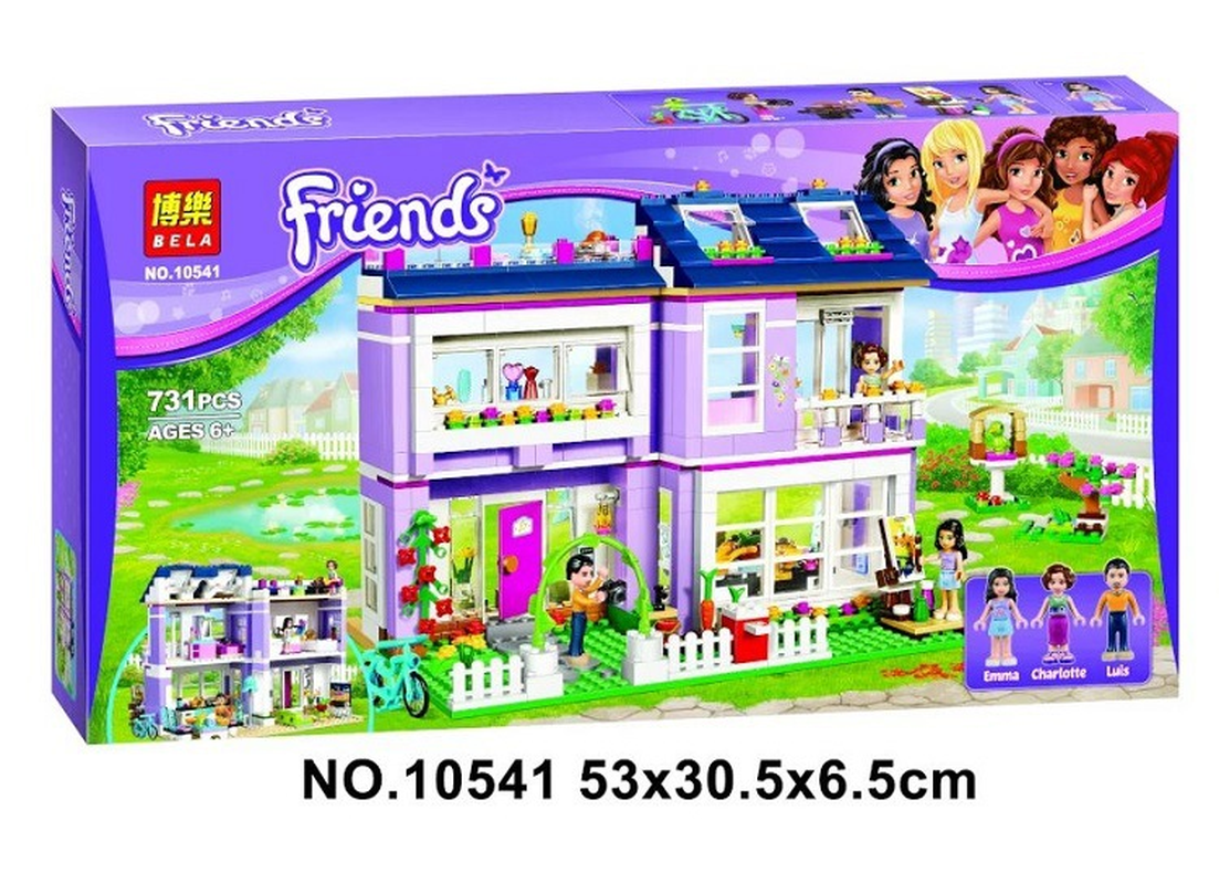 Image 2 - 10541 Compatible with Legoinglys Friends Emma's House 41095 Building Blocks Emma Mia Figure Educational Toys For Children Girl-in Blocks from Toys & Hobbies