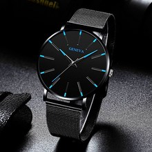 2020 Ultra Thin Watch Men Business Blue Dial Watch
