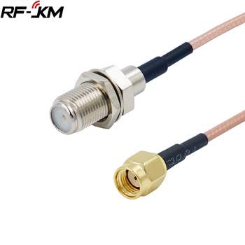 RP SMA Male to F Female Pigtail Connector Cable RG316 RP SMA to F Adapter Assembly Cables image