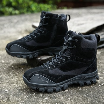 Tactical Military Boots Men Genuine Leather US Army Hunting Trekking Camping Mountaineering Winter Work Shoes Zapatos Hombre 3