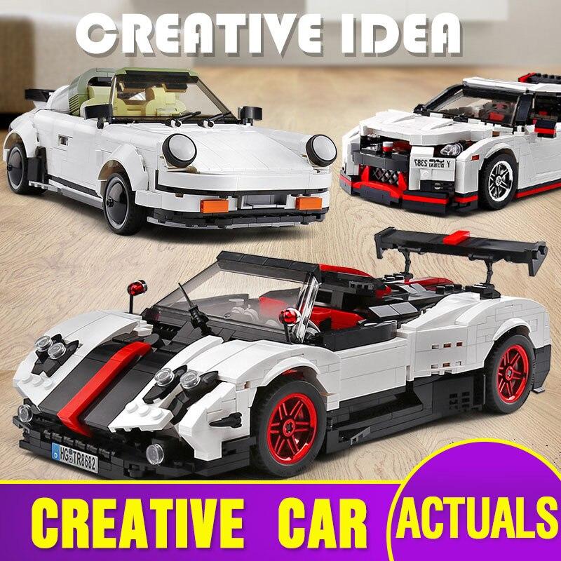 Yeshin MOC technique voitures jouets 882 pièces la Targa Sport vitesse course voiture modèle jouets enfants cadeau de noël blocs de construction briques Kits