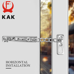 Image 5 - KAK 304 Stainless Steel Security Door Chain Lock Anti theft Door Chain Door Latch Nail Free Glue Thicken Door Lock Hardware