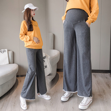 Get more info on the Spring Autumn Wide Leg Maternity Pants High Waist Stomach Lift Pregnancy Pants Solid Color Loose Comfortable Pregnancy Clothes