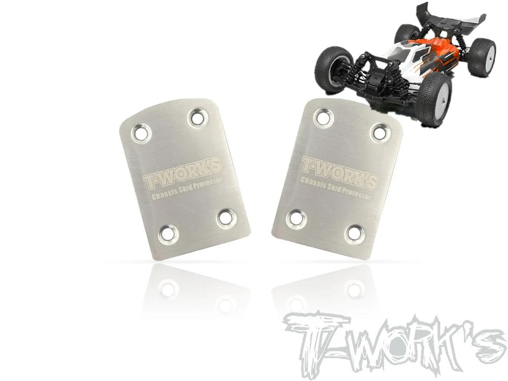T-WORKS 1/10 Xray XB4 buggy 2PC Rear Chassis Skid Protector anti-scratch sheet chassis protection board Reduce wear RC tool image