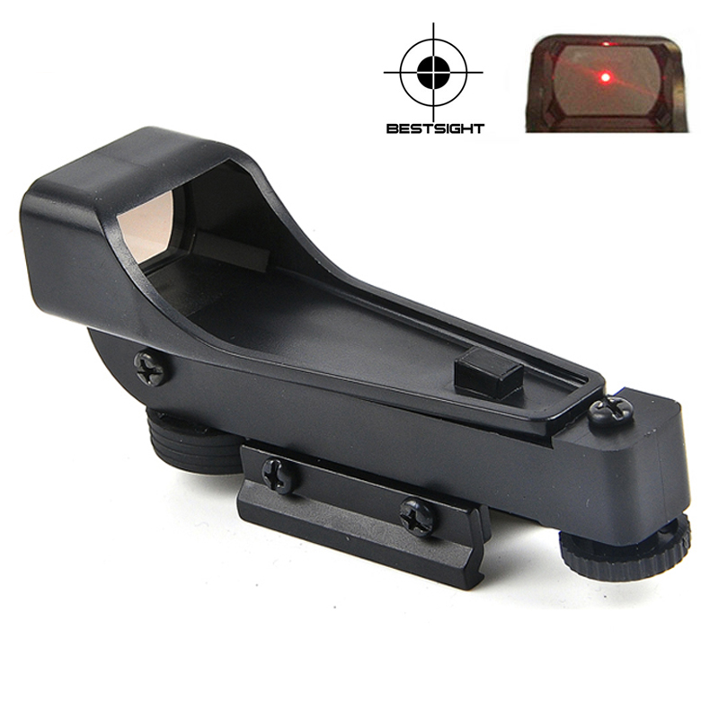 Red Dot Sight Tactical Riflescope Fit 11/20mm Rail Mount Reflex Sight Optical Rifle Scope  For Sniper Rifle Hunting Collimator