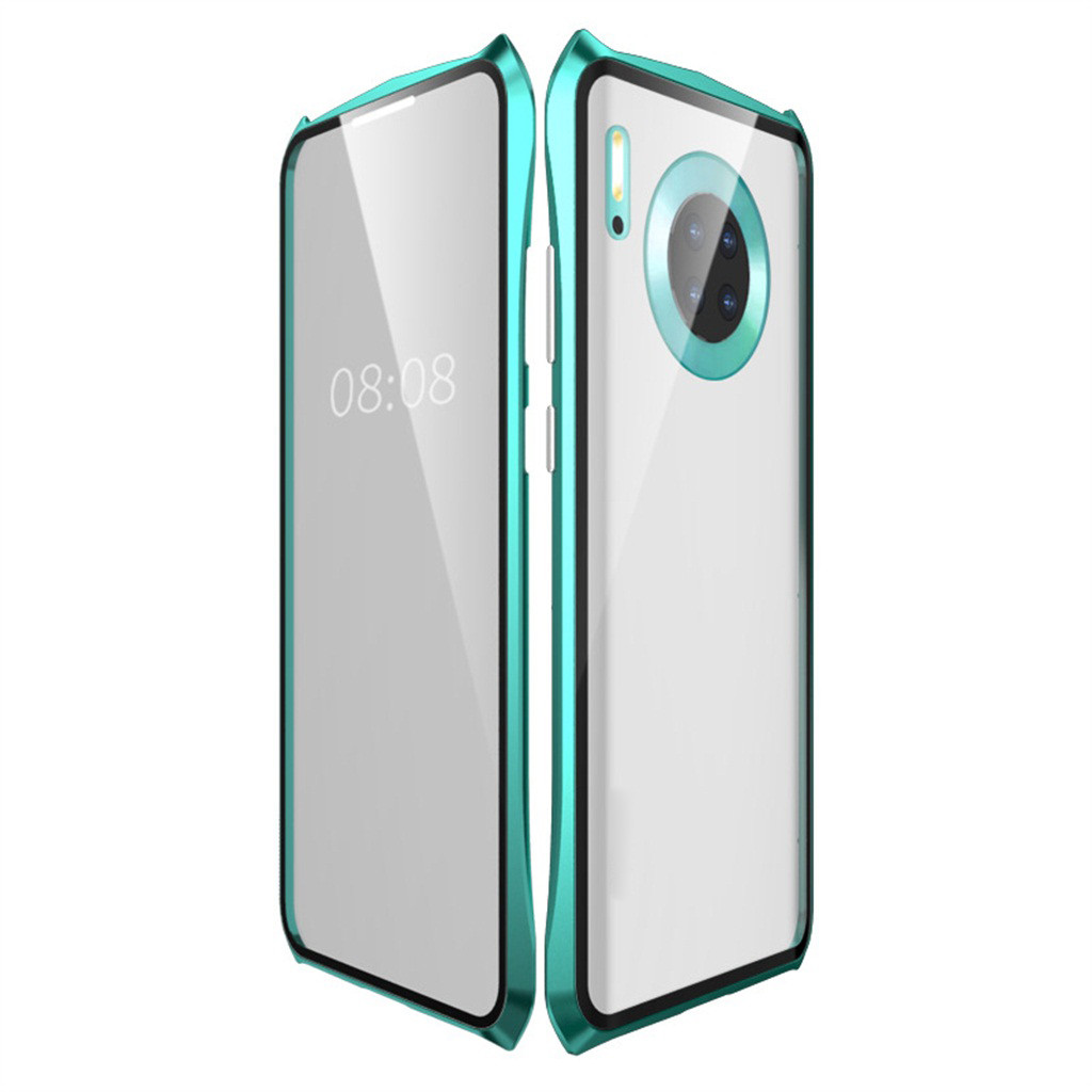 HIPERDEAL For HUAWEI Mate 30 Pro 6.53inch  Magnetic Adsorption Metal Bumper Glass Case Cover ,Protect Phone from scratch,impact