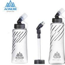 AONIJIE Новая креативная Складная Силиконовая бутылка для воды 250 мл 500 мл Спортивная бутылка для прогулок и бега для спорта на открытом воздухе кемпинга