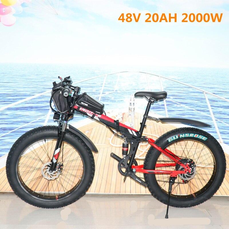 Велосипед электрический складной, 26 дюймов, 1000 Вт, 48 в 15 Ач