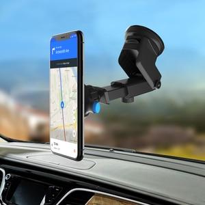 Image 1 - 앞 유리 중력 빨판 자동차 전화 홀더 아이폰 7 8 x xs 최대 홀더 자동차 모바일 지원 스마트 폰 스탠드