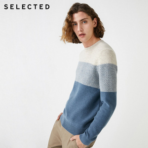 Image 2 - נבחר חדש גברים של צמר תפרים סוודרי החורף חדש עגול צוואר סוודר S
